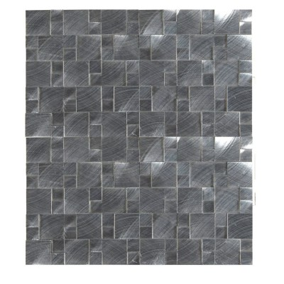 Silver Aluminum Metal 3D Pattern