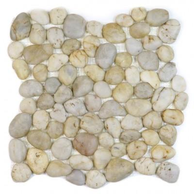 Silver Wheat 12x12 Polished Pebble