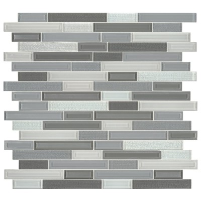 Skyline Staks Interlocking Pattern Glass Mosaic