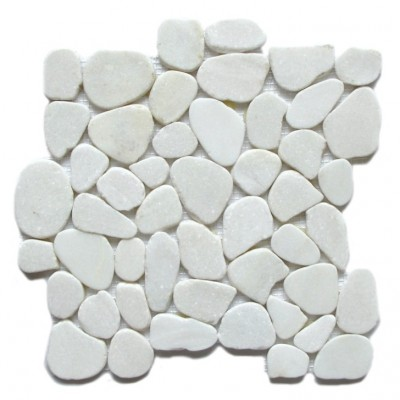 Snowflake 12X12 Interlocking Flat Pebble Tile