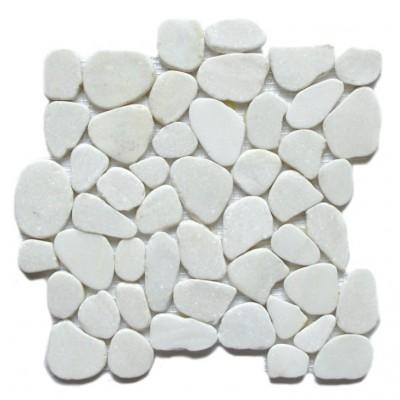 Snowflake 12X12 Interlocking Flat Pebble Tile