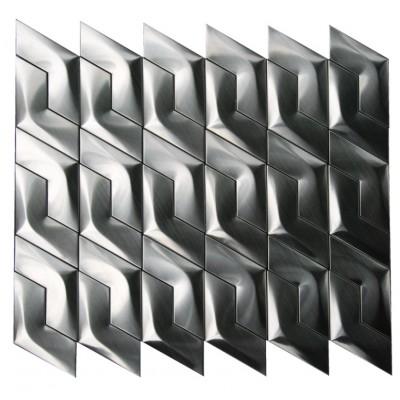 Stainless Steel 3D Interlocking Arrowhead Piazza Mosaic