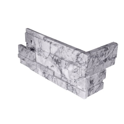 Statuarietto Capri 6x12x6 3D Honed Corner Ledger Panel