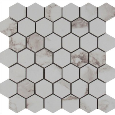 Statuario 2X2 Hexagon Matte Mosaic