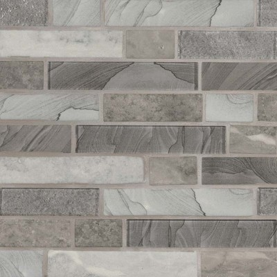 Tarvos Celano Interlocking Pattern Recycled Glass Mosaic