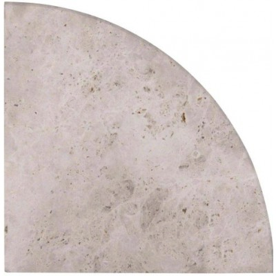 "Tundra Gray Cornershelf 9"" Radius Polished"