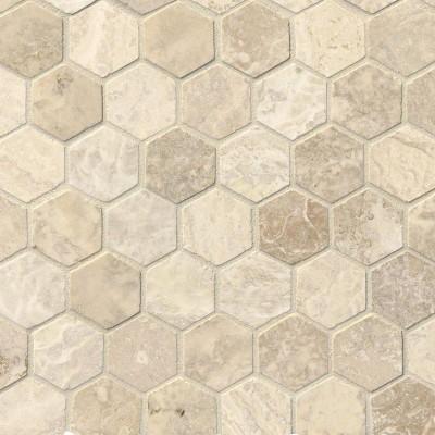 Tuscany Alabastrino 2X2 Hexagon Honed and Filled