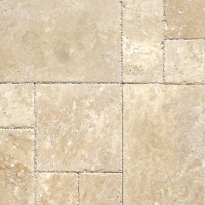 Tuscany Beige French Pattern 16 Sft x 10 Kits Tumbled Paver