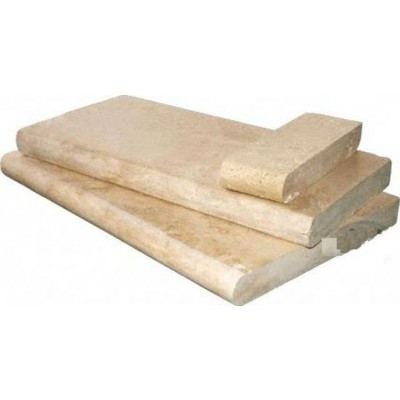 Tuscany Beige  Hon/Uf/Brushed/One Long Side Bullnosed 16X24