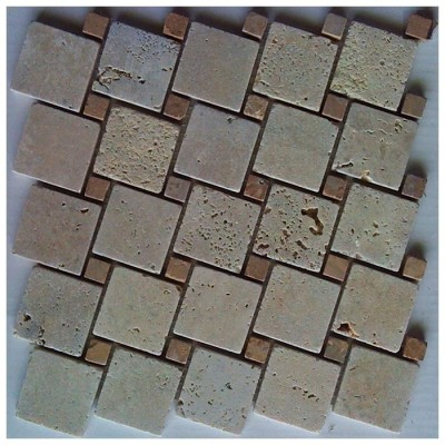 Tuscany Classic 12x12 Interlocking Blend Mosaic