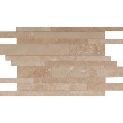 Tuscany Ivory Interlocking Pattern 12x18 Honed Travertine Mosaic