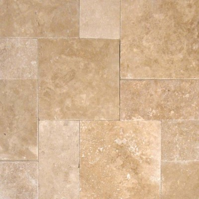 Tuscany Walnut 6x12 Tumbled Travertine Paver
