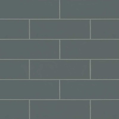 Urbano Graphite 4x12 Glossy Ceramic Subway Tile