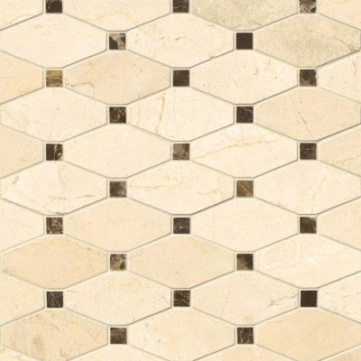 Valencia Blend Elongated Octagon Polished Mosaic
