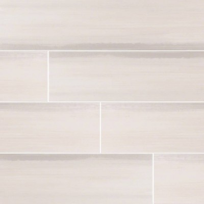 Watercolor Bianco 6x36 Matte Porcelain Tile