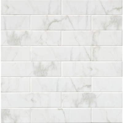 White Carrara 4X16 Glossy Subway