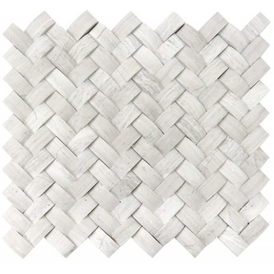 White Oak Arched Basketweave 3D Honed Mosaic