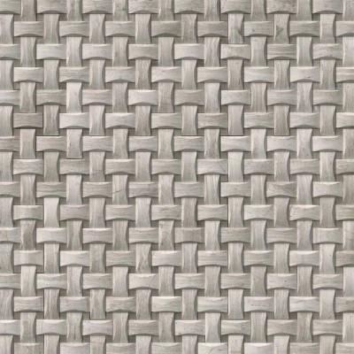 White Oak Arched Basketweave Honed Mosaic