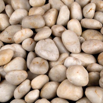 White Beach Pebbles 3-5 cm Random Polished