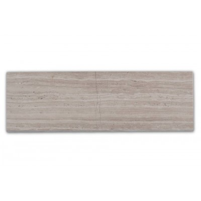 Wooden White 3x8 Honed Marble Tile