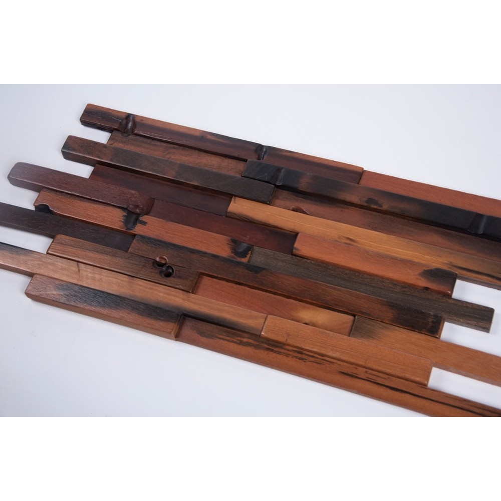 3D Random Plank 11-3/4x23 Antique Wood Mosaic