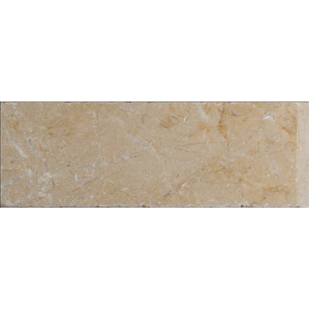 Aegean Pearl 4x12 Tumbled One Short Side Bullnose Pool Coping