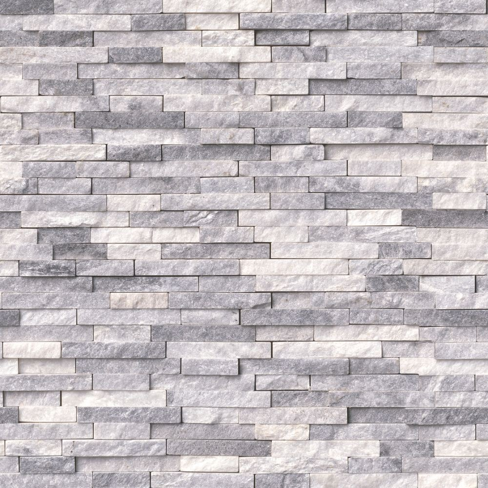 Alaska Gray 12X12 Splitface Interlocking Pattern Mosaic