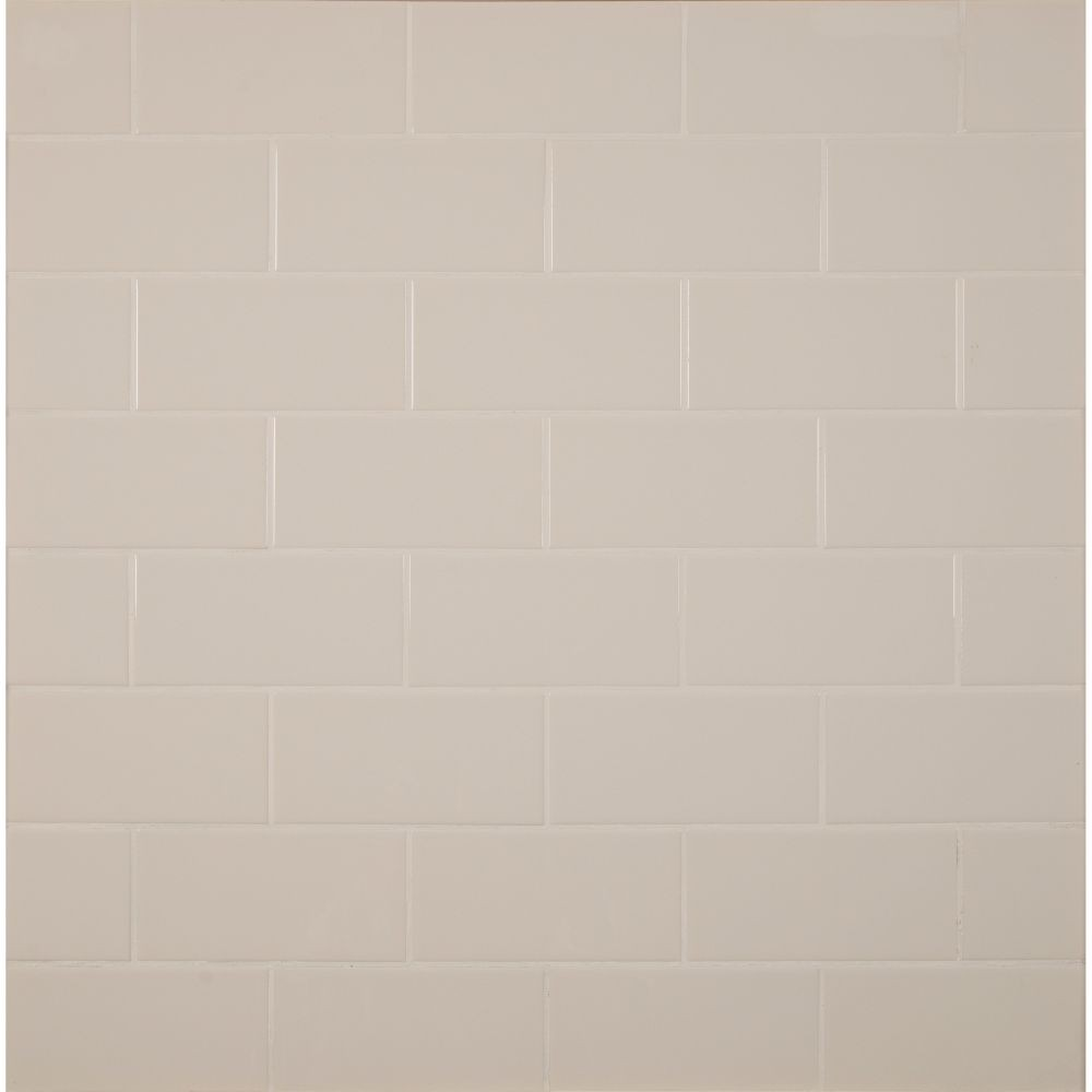 Almond 3X6 Glossy Subway Tile