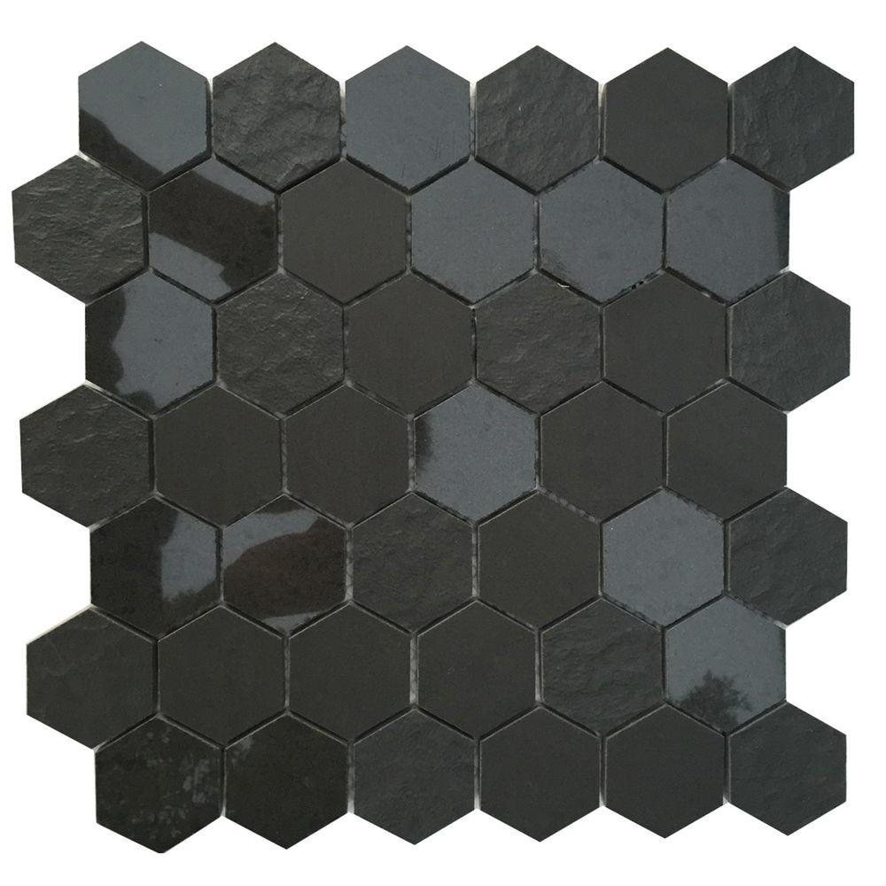 Ancient Sky Hexagon Polished Mosaic