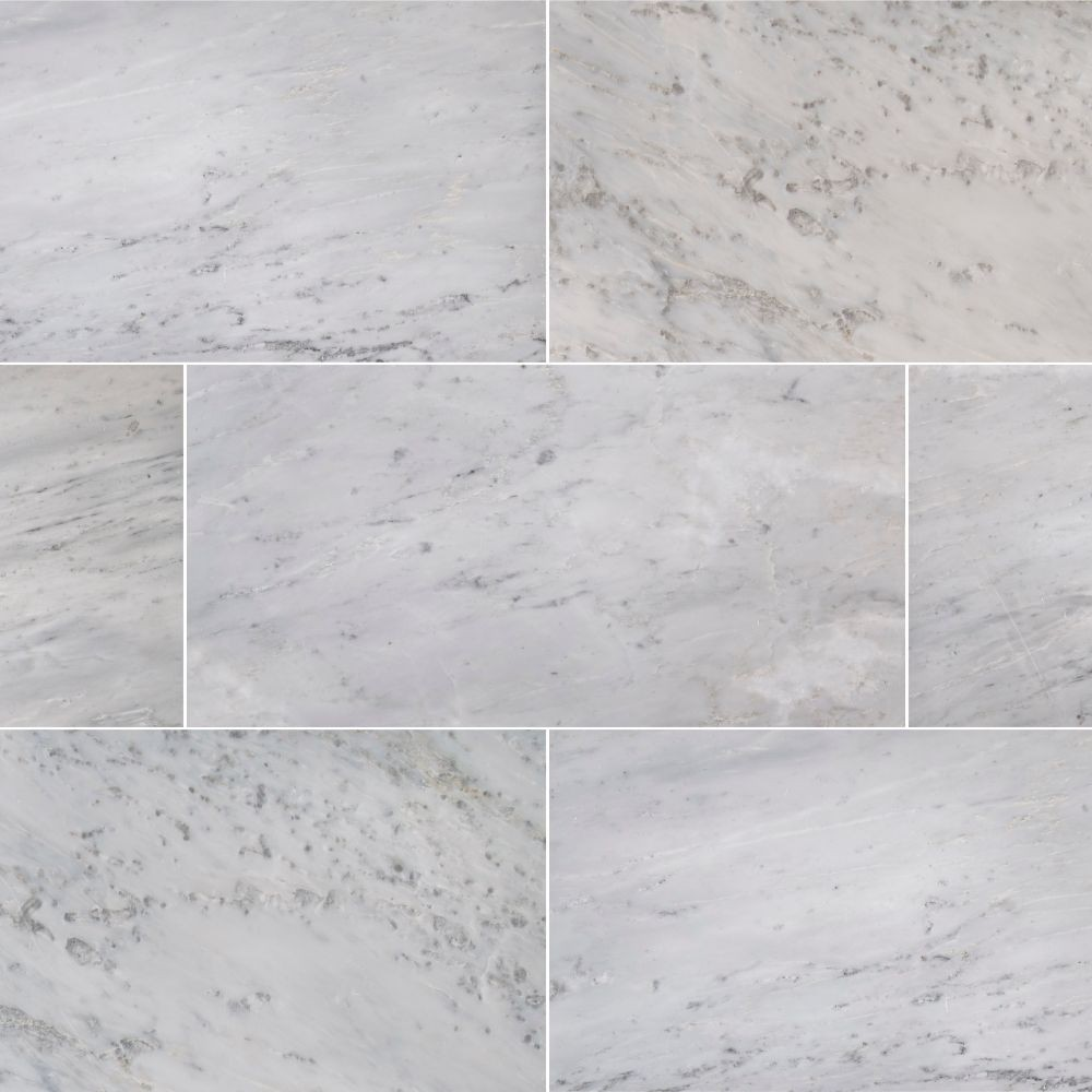 Arabescato Carrara 12X24 Polished Marble Tile