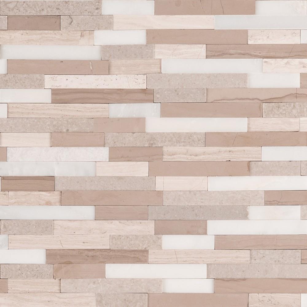 Arctic Storm Interlocking 3D Peel and Stick Wall Tile