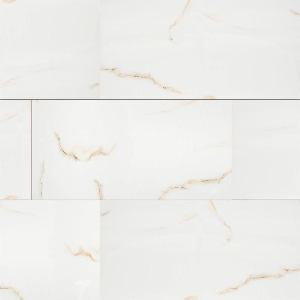 Aria Bianco 24X48 Polished Porcelain Tile