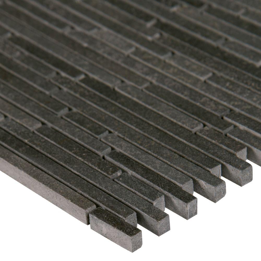Basalt Blue Bamboo 12x12 Interlock Pattern Honed