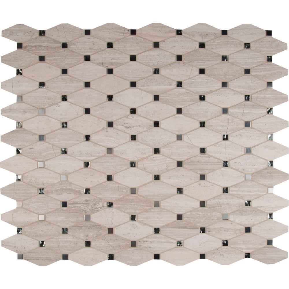 Bayview Elongated Blend Octagon Mosaic