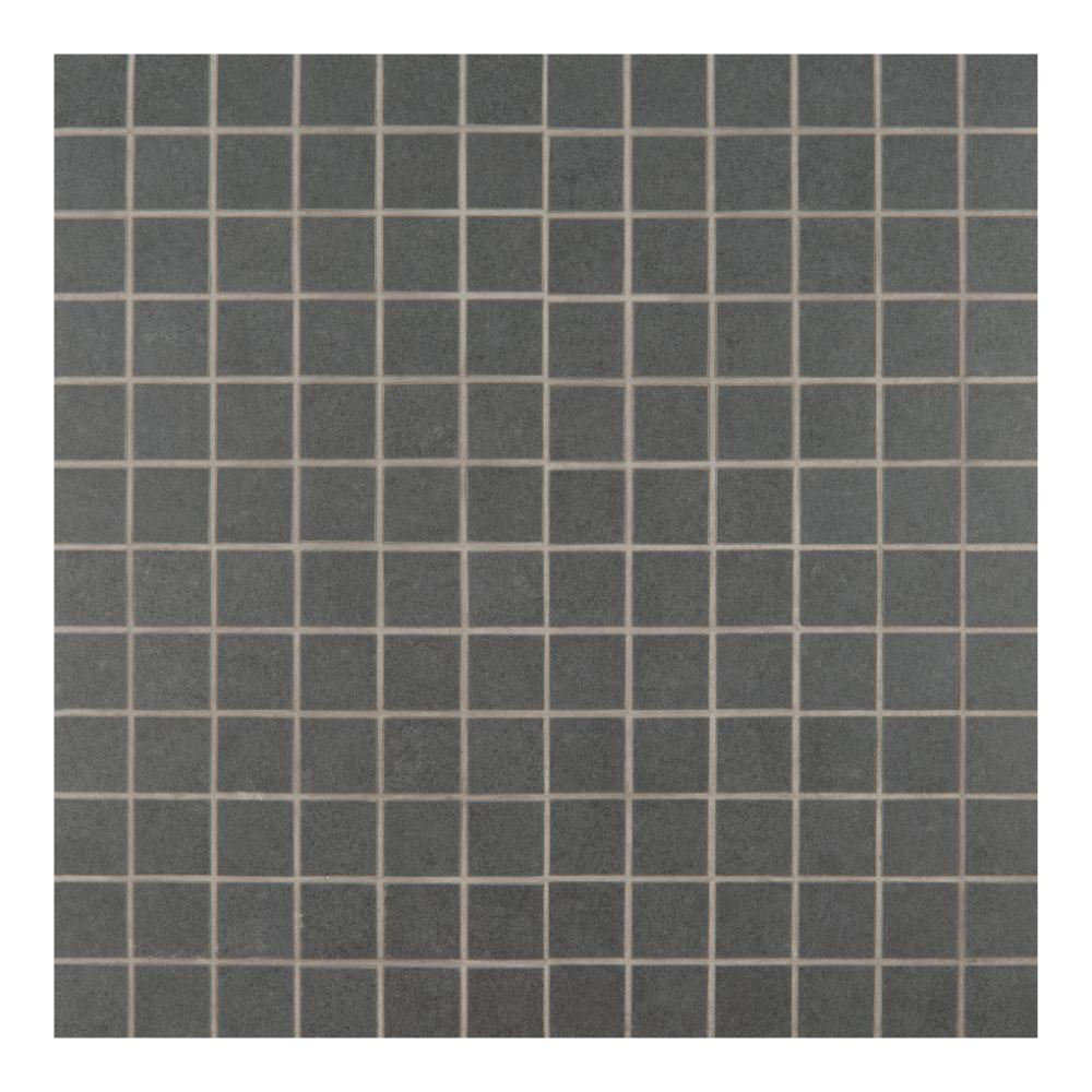 Beton Graphite 12X12 Porcelain Mesh-Mounted Mosaic Tile