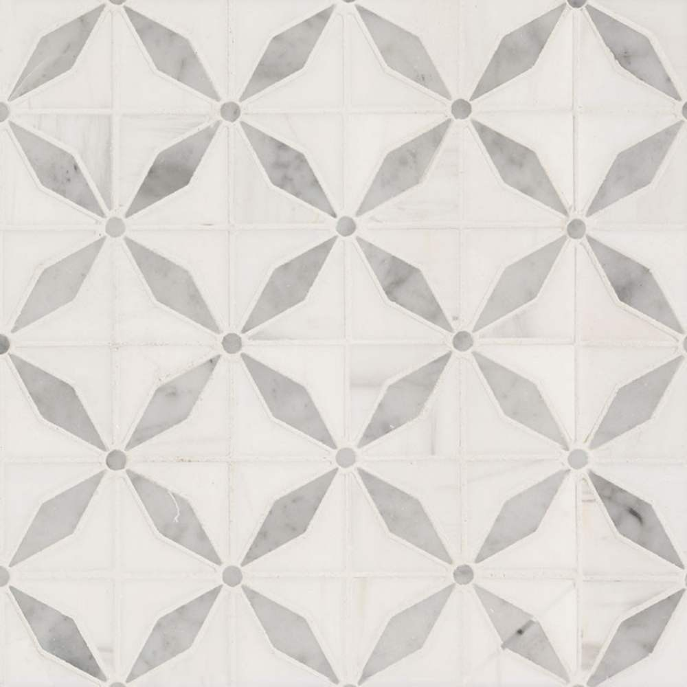Bianco Starlite Polished Pattern Marble Tile