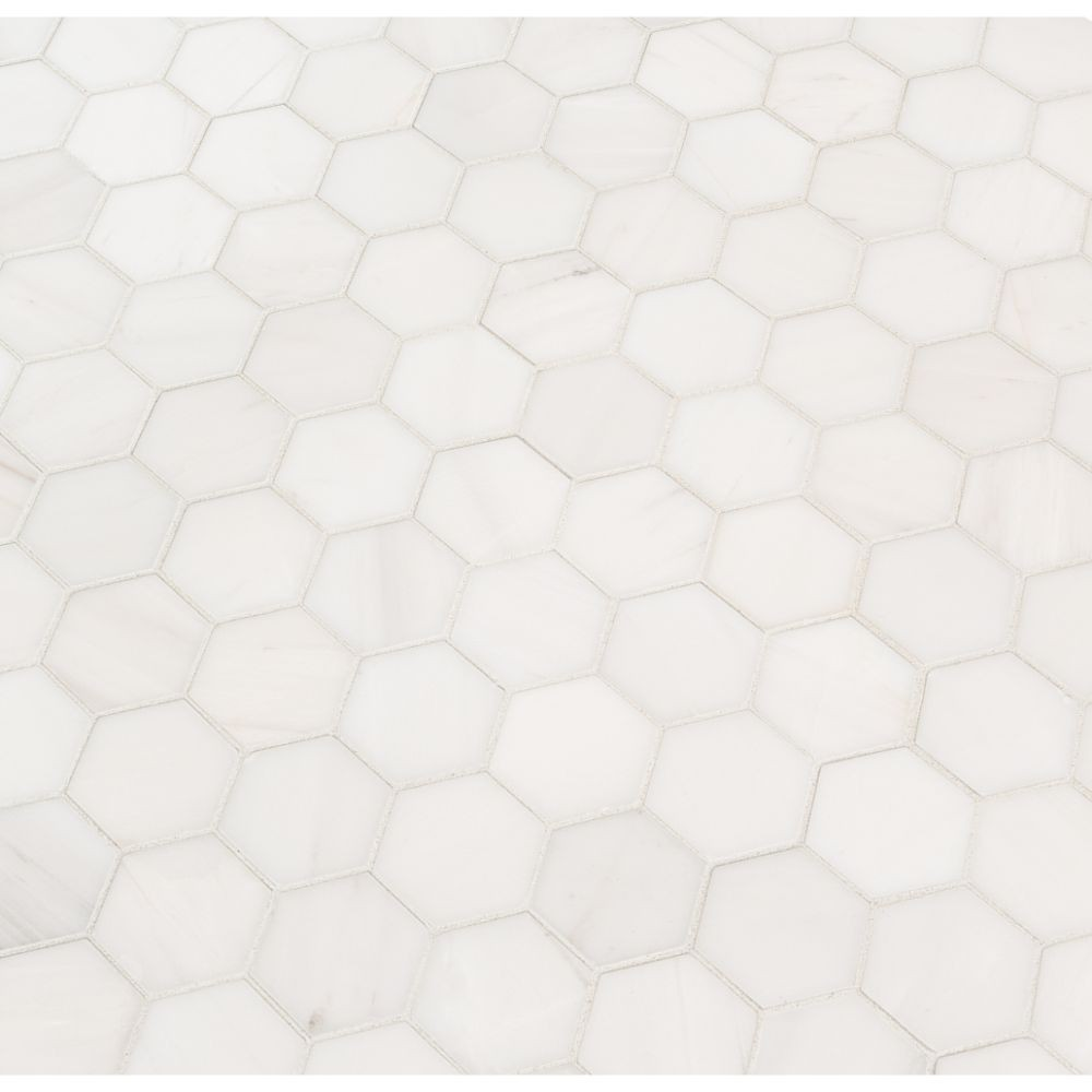 Bianco Dolomite 2X2 Hexagon Polished Mosaic