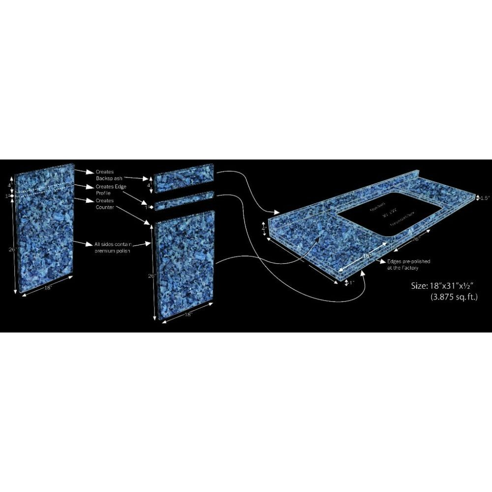Black Galaxy Polished DIY Countertop
