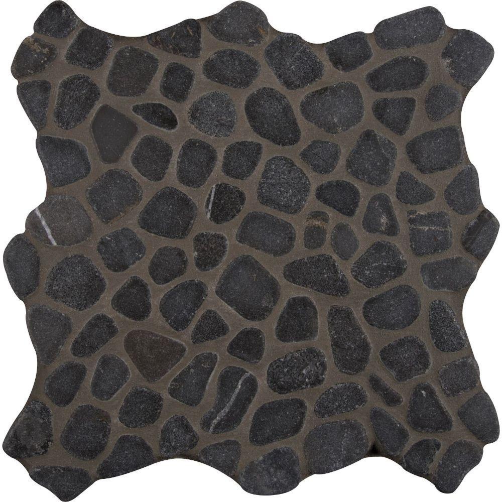 Black Pebbles 12X12 Tumbled