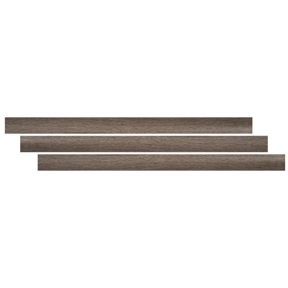 Bleached Elm 2-3/4X94 Vinyl Overlapping Stair Nose