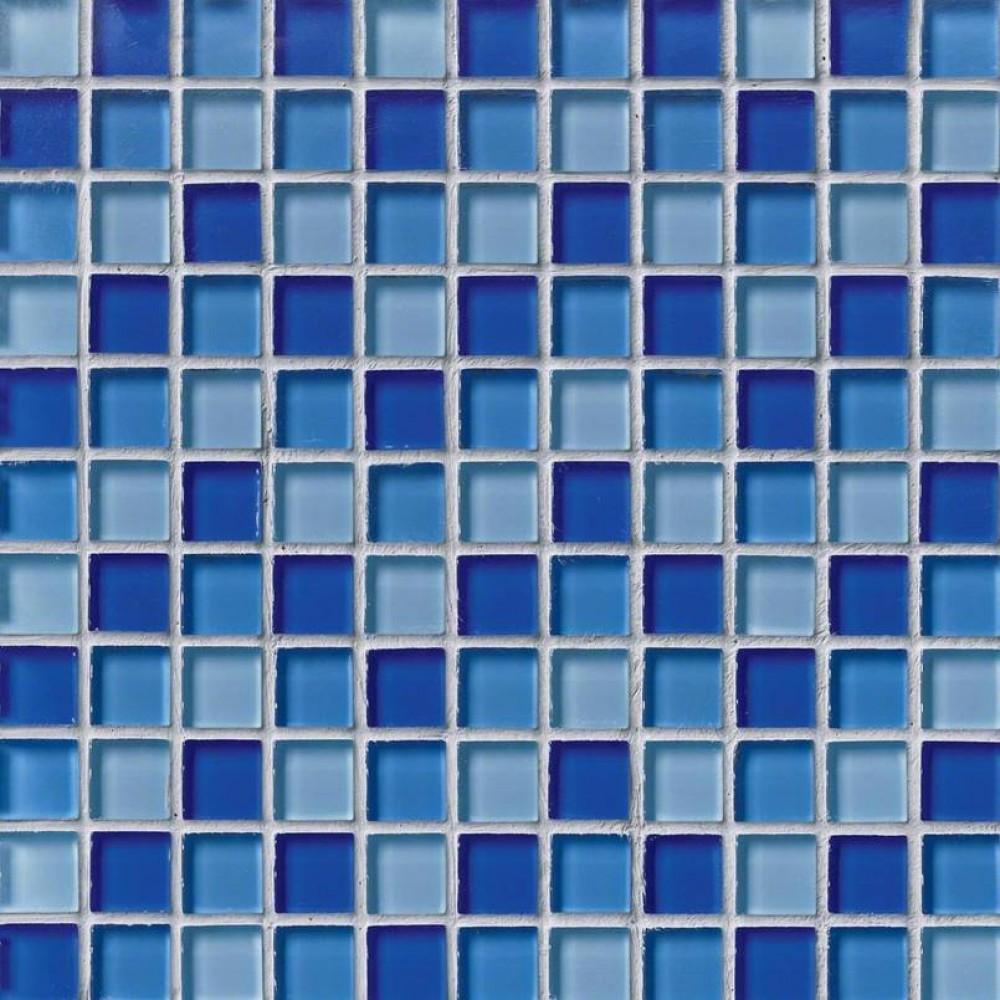 Blue Blend 1X1X8MM Glass Wall Tile