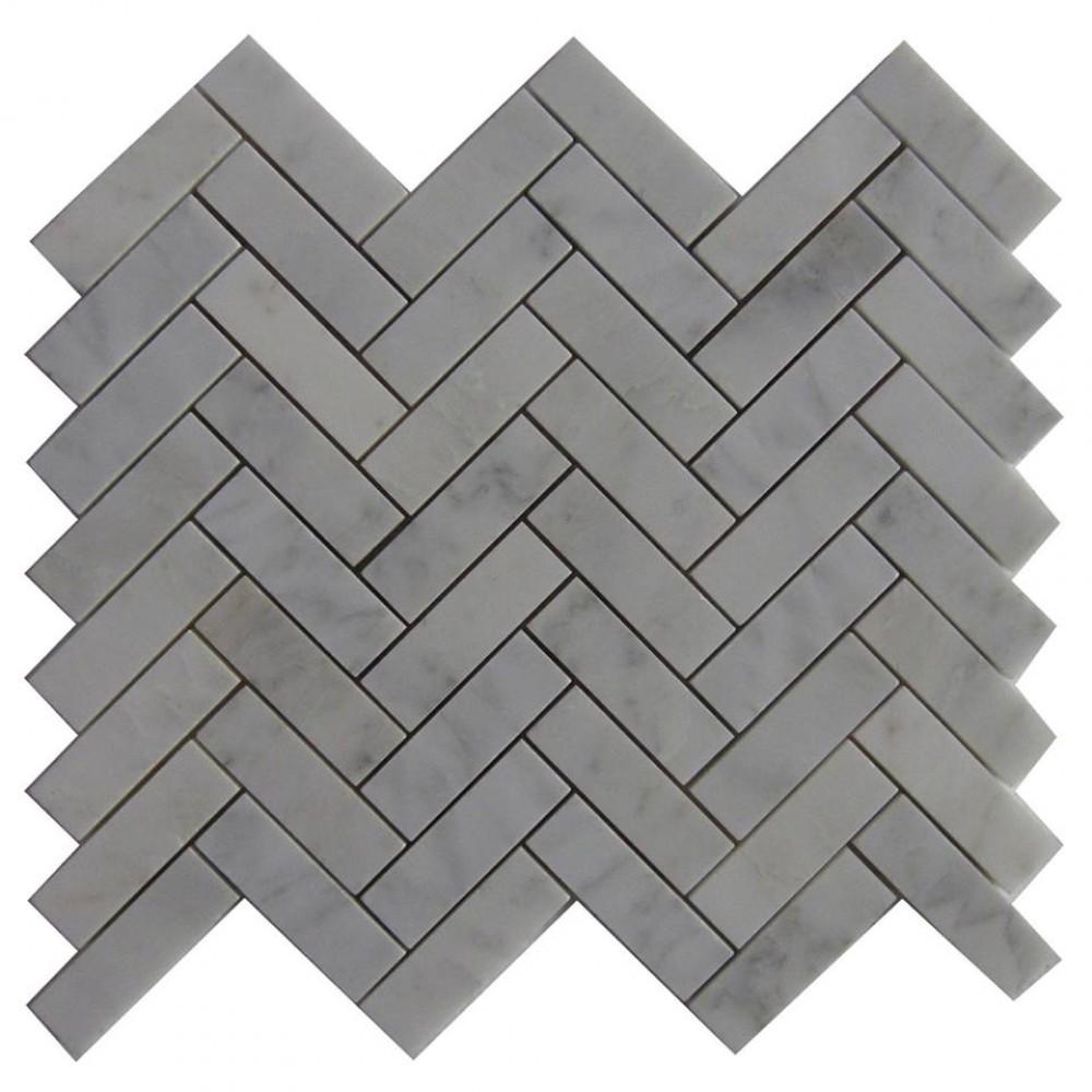 Boardwalk Herringbone 12x12 Polished Mosaic
