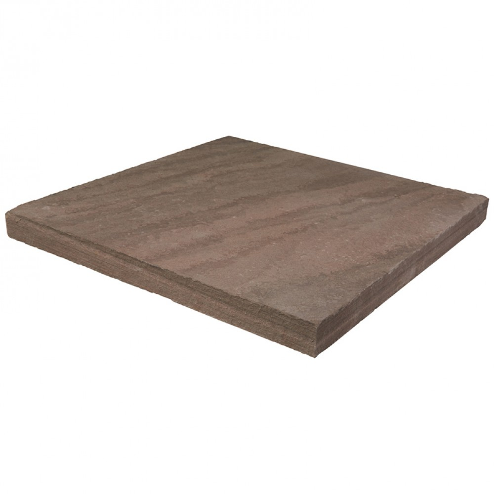 Brown Wave 30x30 Flamed Wall Caps - Dry