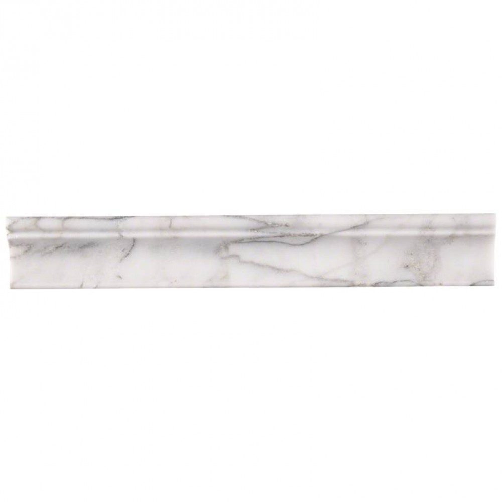 Calacatta Cressa 1X2X12 Honed Cornice Molding