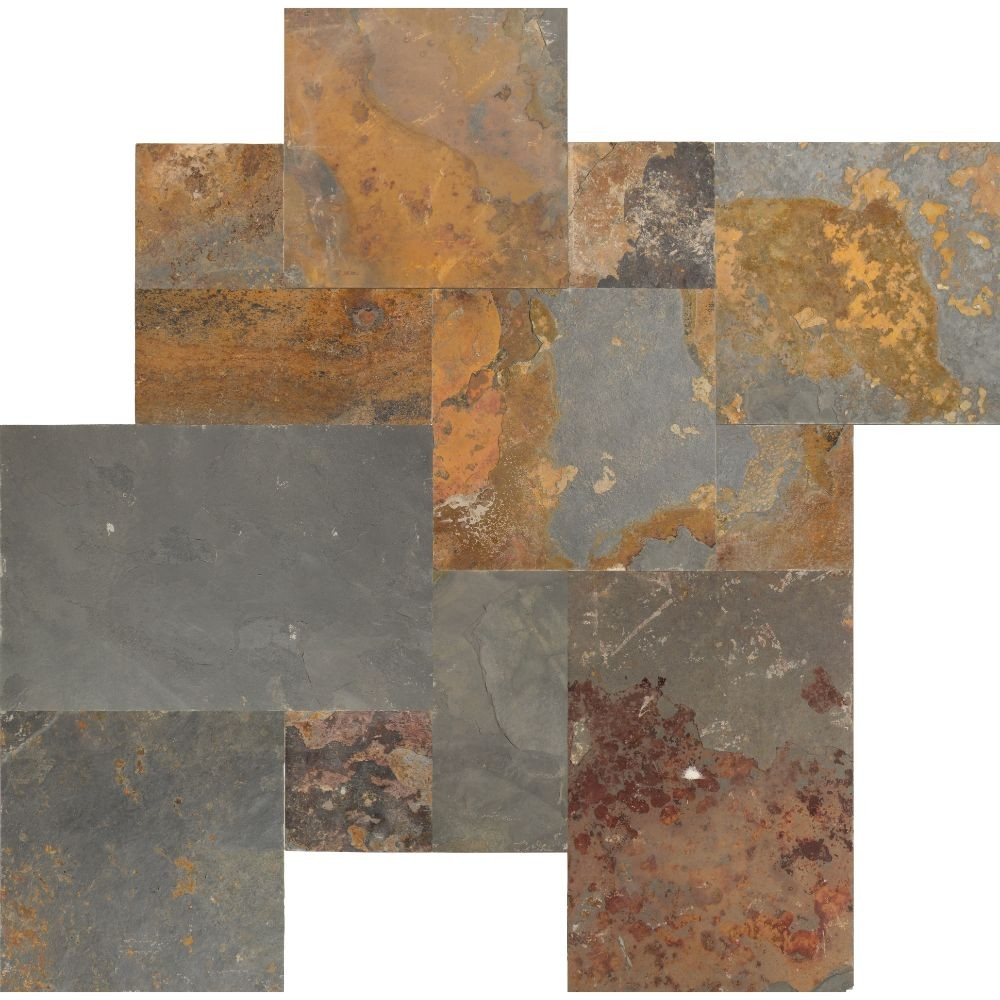 California Gold French Pattern 16 Sft Gauged Slate tile
