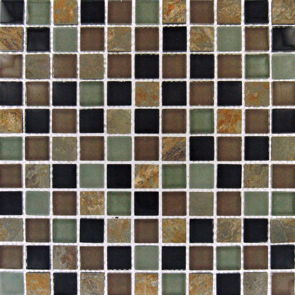 California Gold Glass/Stone Blend 1x1x8MM