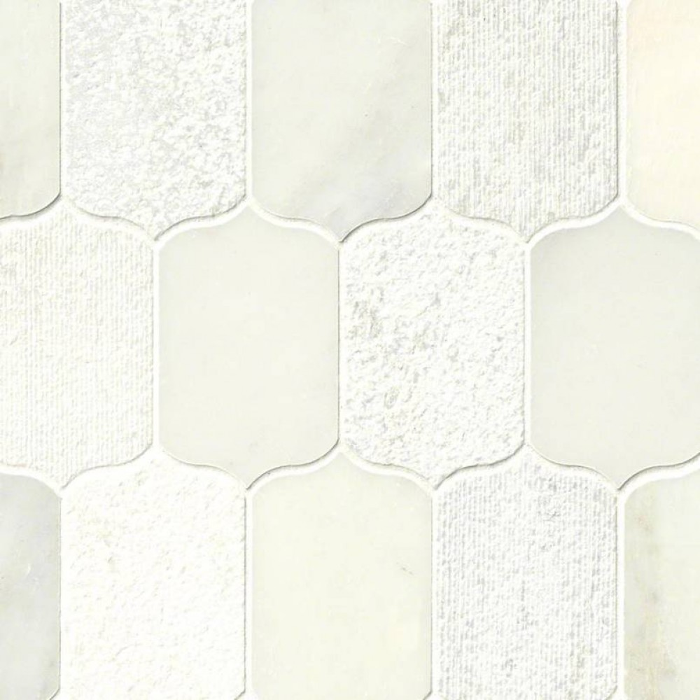 Calypso Blanco Lotus Pattern Multi Finish Mosaic
