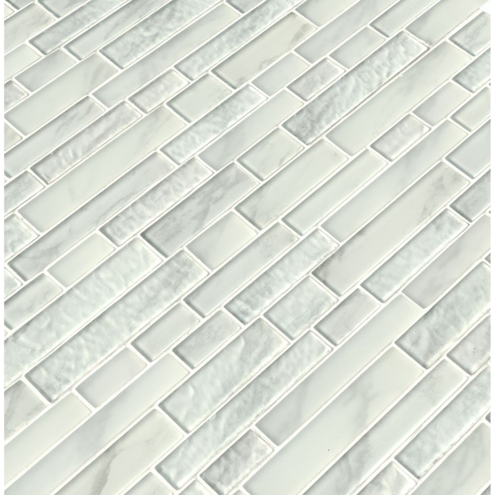 Calypso Interlocking Pattern Inkjet Glass Mosaic