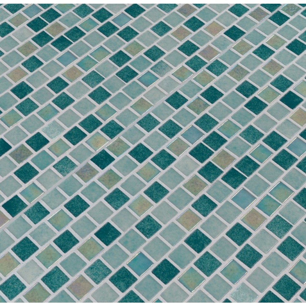 Carribean Jade 1X1 Staggered Glass Mosaic