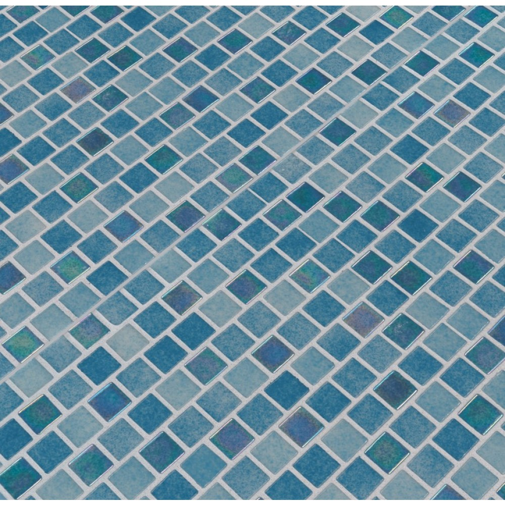 Carribean Reef 1X1 Staggered Glass Mosaic